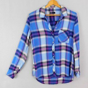 GAP Blue and Purple Flannel Shirt - Small